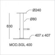 base sgabello SGL 400