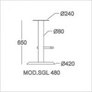 base sgabello SGL 480