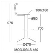 base sgabello SGLS 450