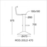 base sgabello SGLS 470