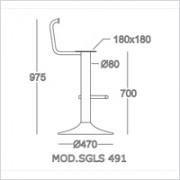 base sgabello SGLS 491