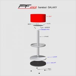 copertina montaggio sgabello galaxy