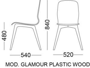 glamour wood plastic