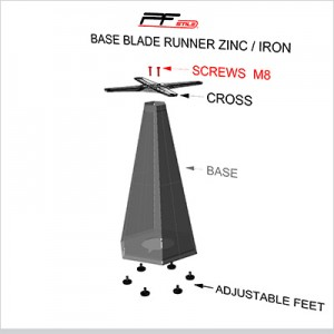 montaggio base BLADE RUNNER zinc-iron con crociera copertina